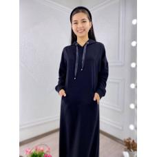 Платье-худи на резинке